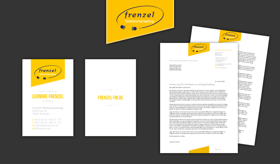 business cards and writing paper corporate design elements