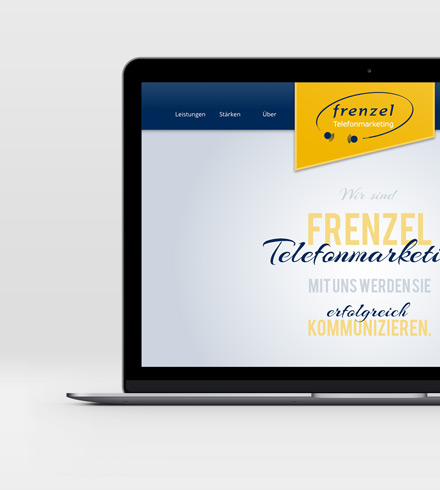 web and corporate design new homepage Frenzel Telefonmarketing