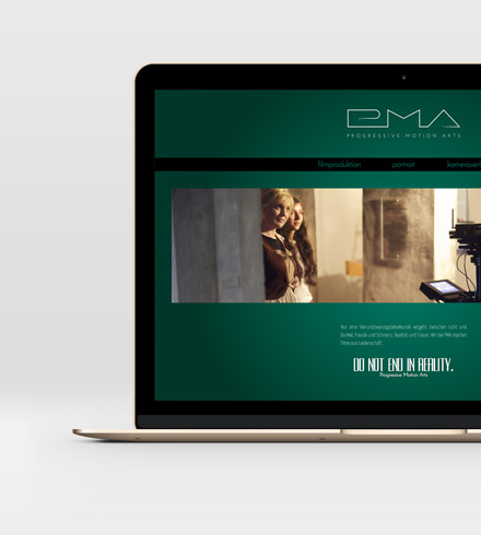 web design corporate website PMA film production and camera rental Leipzig